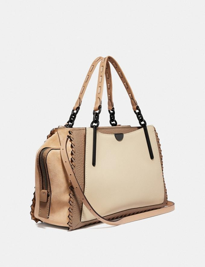 Coach Dreamer 36 in Colorblock With Whipstitch Ivory Multi/Pewter Women Collection Dreamer Alternate View 1