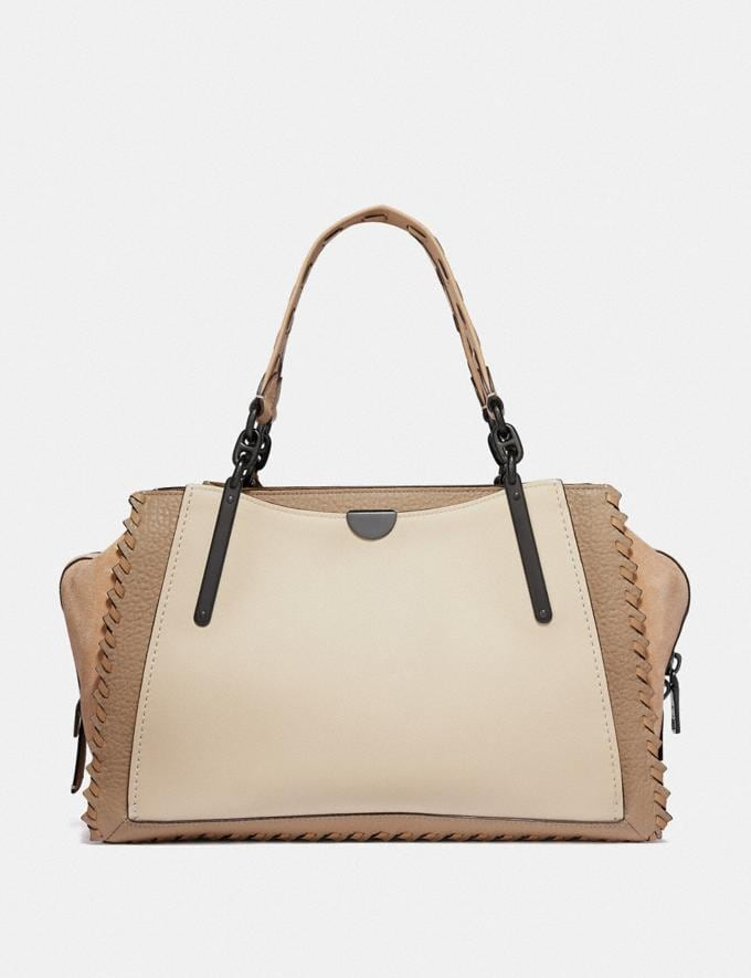 Coach Dreamer 36 in Colorblock With Whipstitch Ivory Multi/Pewter Deals Bags Alternate View 2