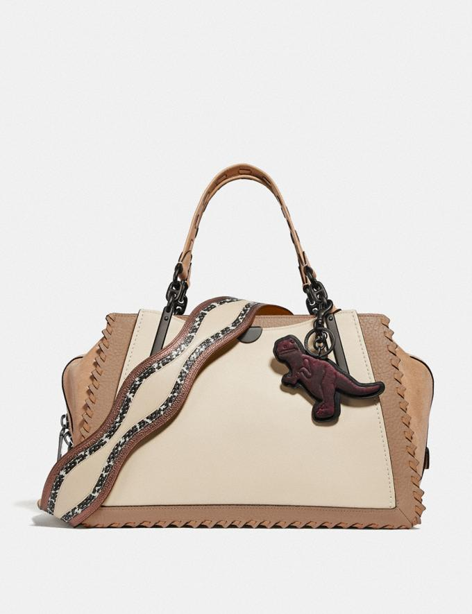 Coach Dreamer 36 in Colorblock With Whipstitch Ivory Multi/Pewter Women Bags Satchels & Carryalls Alternate View 4