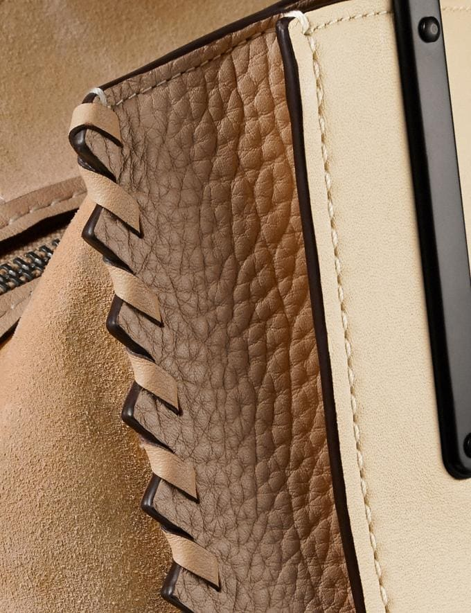 Coach Dreamer 36 in Colorblock With Whipstitch Ivory Multi/Pewter Women Collection Dreamer Alternate View 6