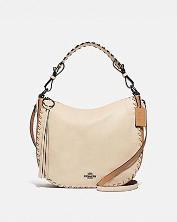 sac hobo sutton coach en color block avec coutures whipstitch
