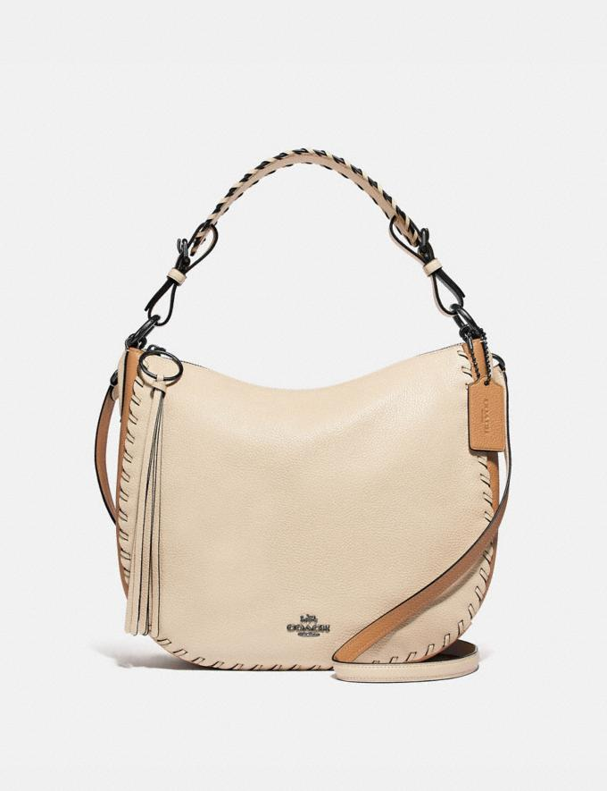 Coach Sutton Hobo in Colorblock With Whipstitch Ivory Multi/Gunmetal Black Friday Women's Cyber Monday Sale Bags