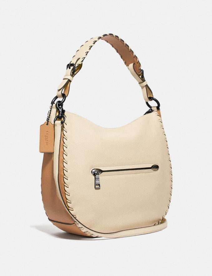 Coach Sutton Hobo in Colorblock With Whipstitch Ivory Multi/Gunmetal Black Friday Women's Cyber Monday Sale Bags Alternate View 1