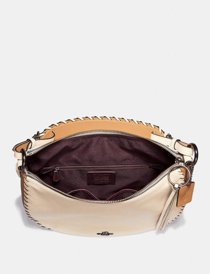 Coach Sutton Hobo in Colorblock With Whipstitch Ivory Multi/Gunmetal Black Friday Women's Cyber Monday Sale Bags Alternate View 2