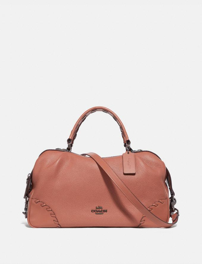 Coach Lane Satchel With Whipstitch Light Peach/Pewter Women Bags Satchels
