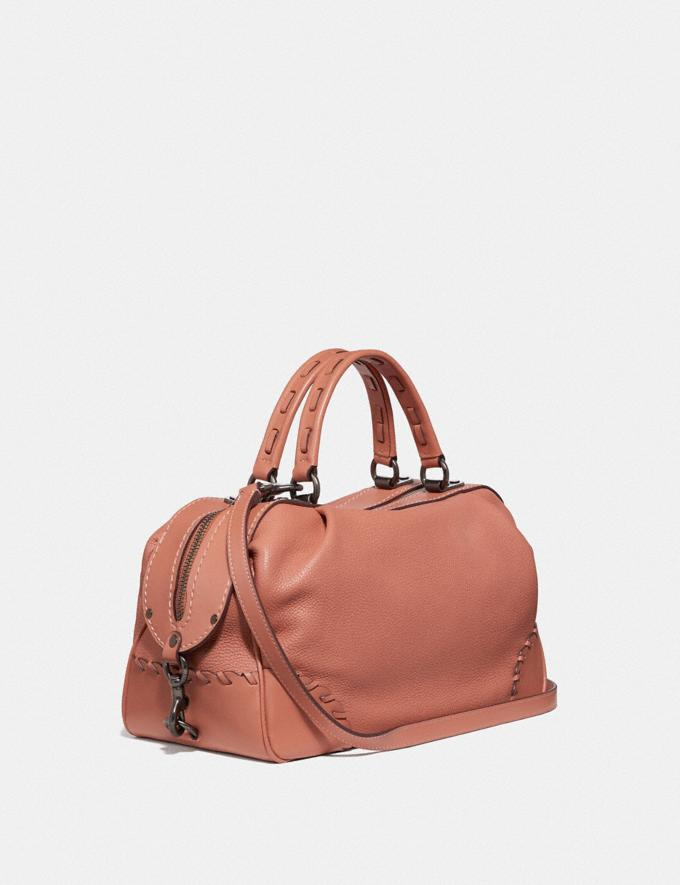 Coach Lane Satchel With Whipstitch Light Peach/Pewter Women Bags Satchels Alternate View 1