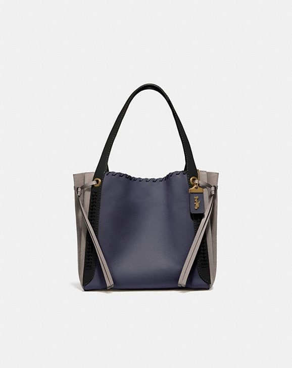 Coach HARMONY HOBO IN COLORBLOCK WITH WHIPSTITCH