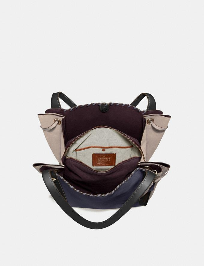 Coach Harmony Hobo in Colorblock With Whipstitch Ink Multi/Brass Women Bags Shoulder Bags Alternate View 2
