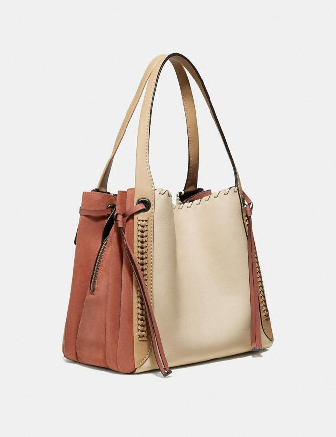 Coach Harmony Hobo in Colorblock With Whipstitch Ivory Multi/Pewter Women Bags Shoulder Bags Alternate View 1
