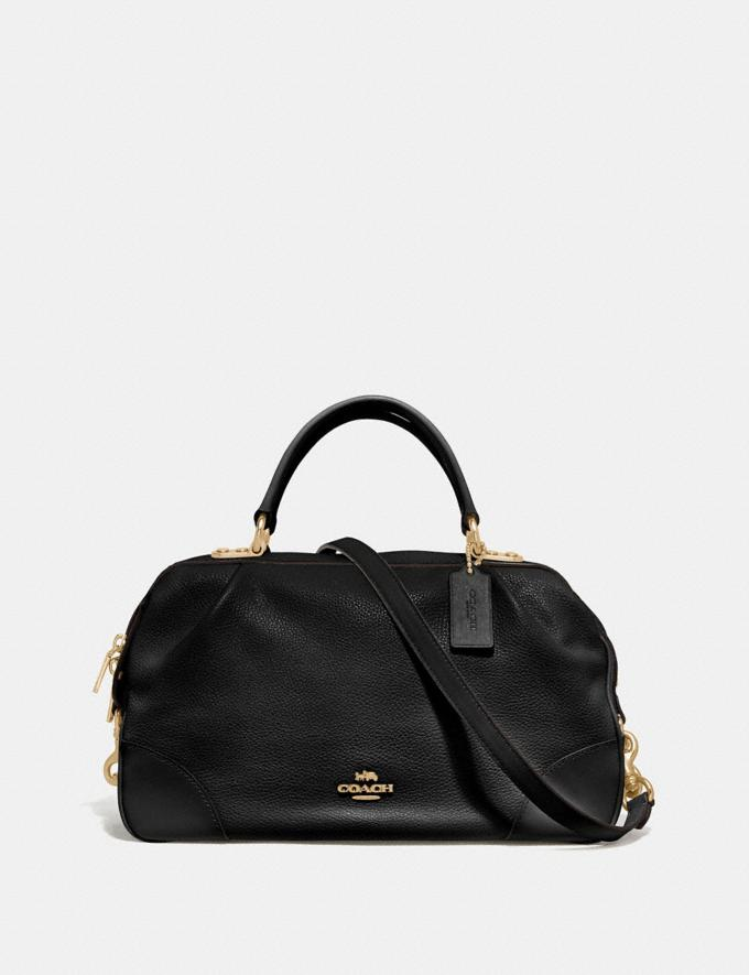 Coach Lane Satchel Black/Gold SALE Women's Sale New to Sale New to Sale