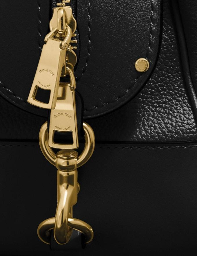 Coach Lane Satchel Black/Gold SALE Women's Sale New to Sale New to Sale Alternate View 6