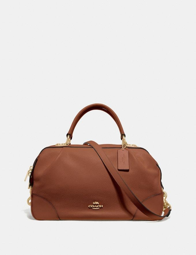 Coach Lane Satchel 1941 Saddle/Gold SALE Women's Sale