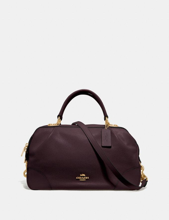 Coach Lane Satchel Oxblood/Gold Personalise For Her Bags