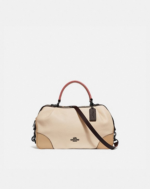 Coach LANE SATCHEL IN COLORBLOCK WITH SNAKESKIN DETAIL