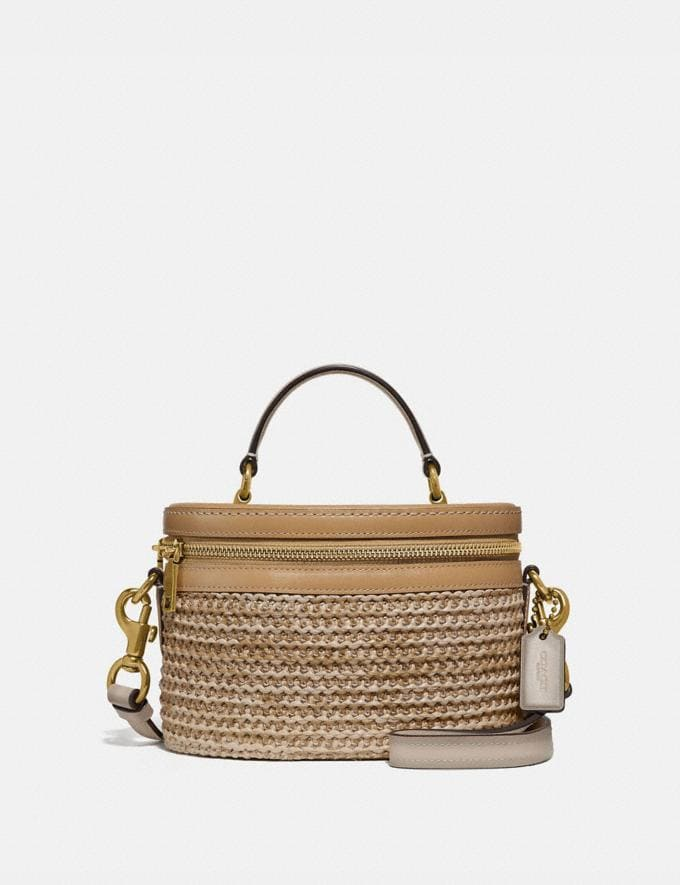 Coach Trail Bag in Colorblock Straw/Tan Multi/Brass New Featured Online Exclusives