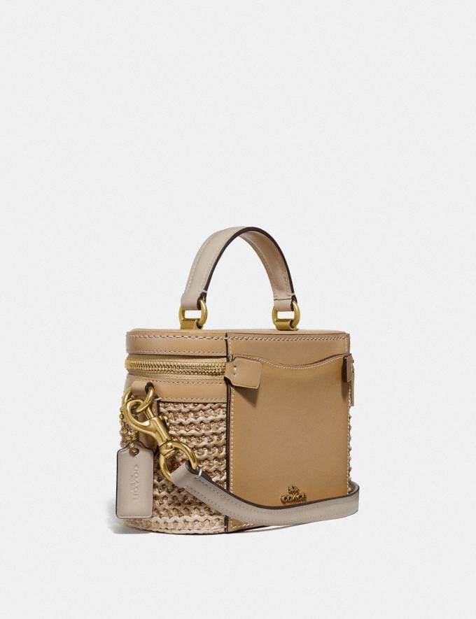 Coach Trail Bag in Colorblock Straw/Tan Multi/Brass New Featured Online Exclusives Alternate View 1