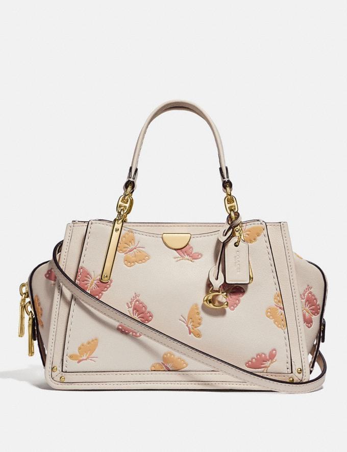 Coach Dreamer 21 With Butterfly Print Chalk/Gold Women Bags