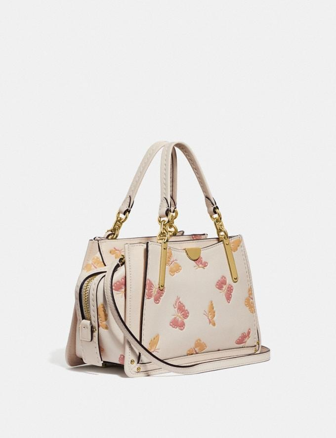 Coach Dreamer 21 Mit Schmetterlings-Print Kreide/Gold Damen Taschen Satchels Alternative Ansicht 1