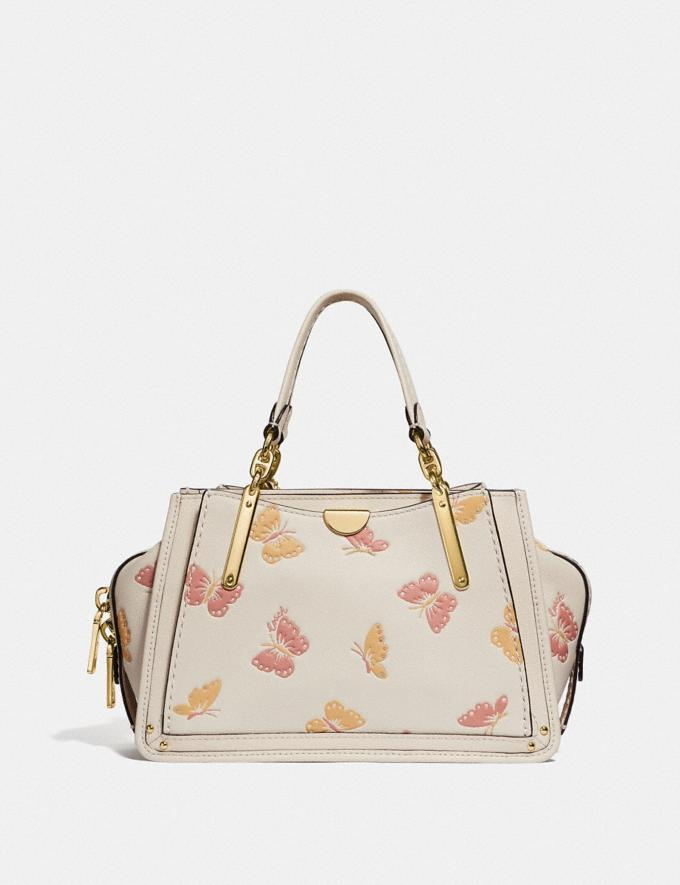 Coach Dreamer 21 Mit Schmetterlings-Print Kreide/Gold Damen Taschen Satchels Alternative Ansicht 2