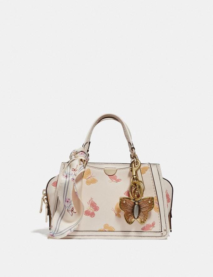 Coach Dreamer 21 Mit Schmetterlings-Print Kreide/Gold Damen Taschen Satchels Alternative Ansicht 4