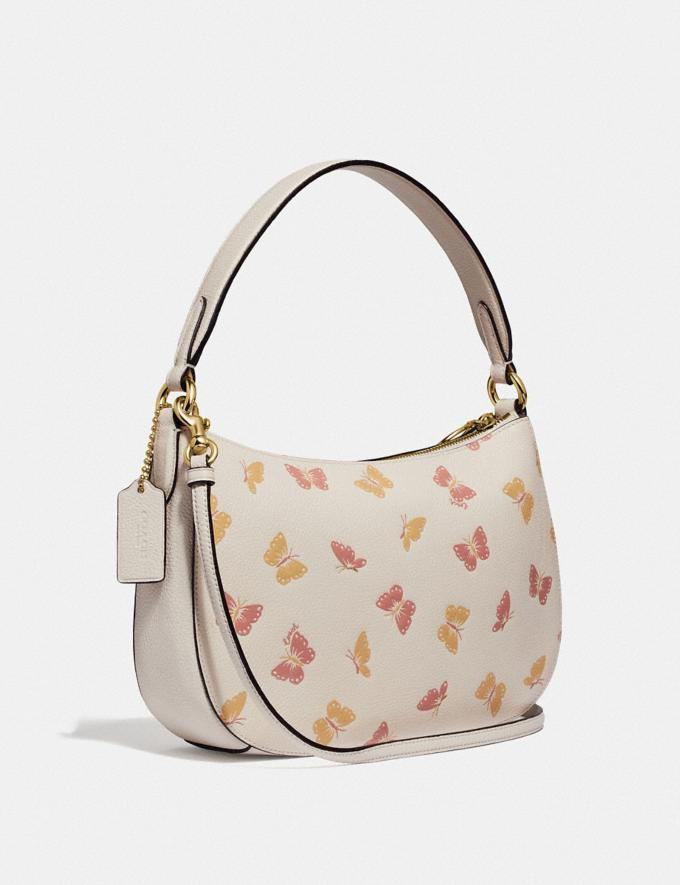 Coach Sutton Crossbody With Butterfly Print Chalk/Gold New Women's Trends Butterfly Applique Alternate View 1