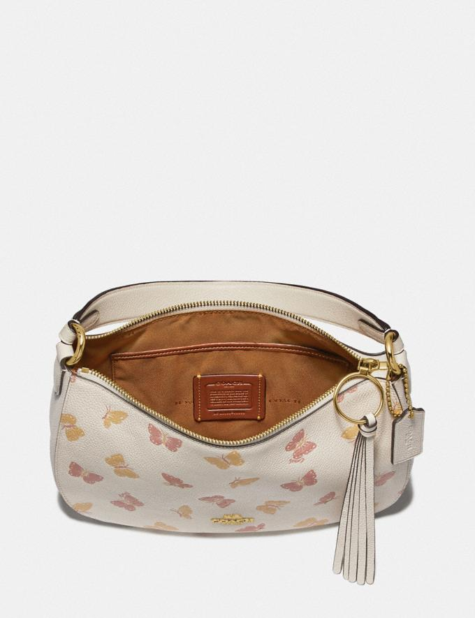Coach Sutton Crossbody With Butterfly Print Chalk/Gold New Women's Trends Butterfly Applique Alternate View 3