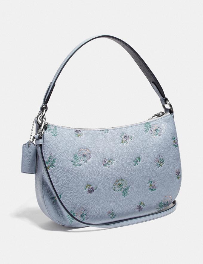 Coach Sutton Crossbody With Meadow Prairie Print Silver/Mist Women Bags Crossbody Bags Alternate View 1