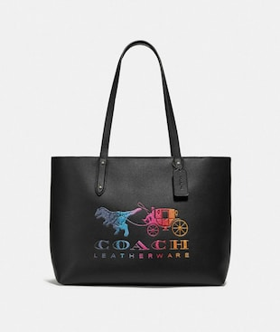 CENTRAL TOTE WITH ZIP WITH REXY AND CARRIAGE