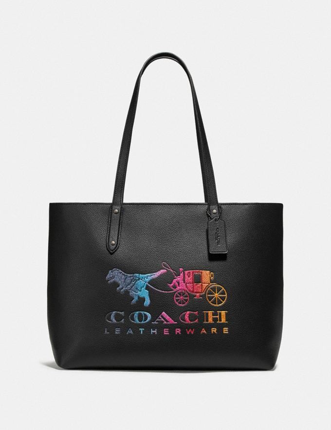 Coach Central Tote With Zip With Rexy and Carriage Black/Gunmetal Seasonal Offers Women Bags