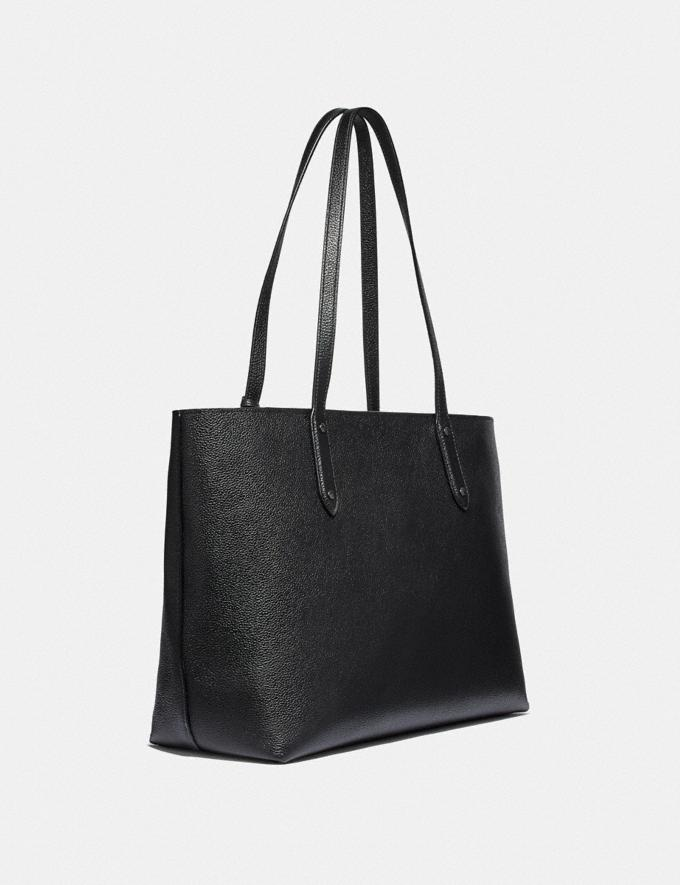 Coach Central Tote With Zip With Rexy and Carriage Black/Gunmetal Seasonal Offers Women Bags Alternate View 1