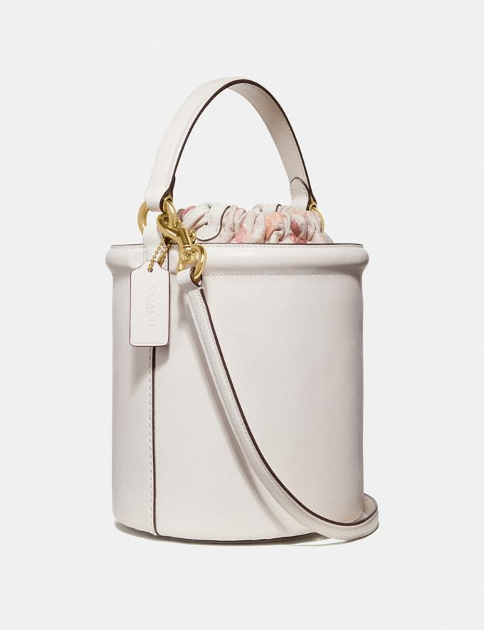 Coach Drawstring Bucket Bag Chalk/Gold New Featured 30% off (and more) Alternate View 1