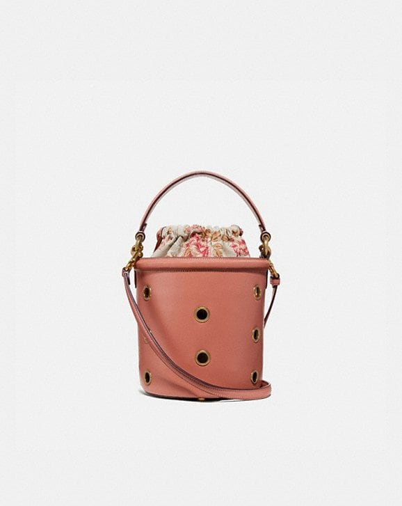 Coach DRAWSTRING BUCKET BAG WITH GROMMETS