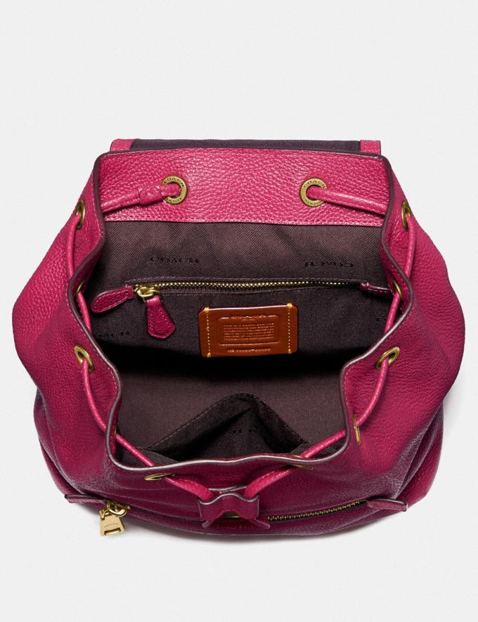 Coach Evie Backpack 22 in Colorblock Bright Cherry Multi/Brass Women Bags Backpacks Alternate View 2