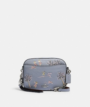 CAMERA BAG WITH HAWAIIAN PRINT