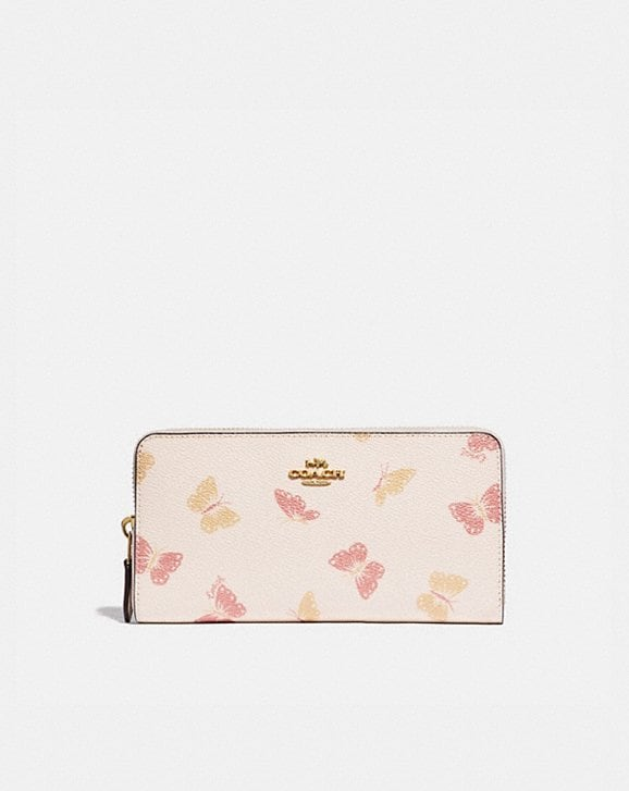 Coach ACCORDION ZIP WALLET WITH BUTTERFLY PRINT