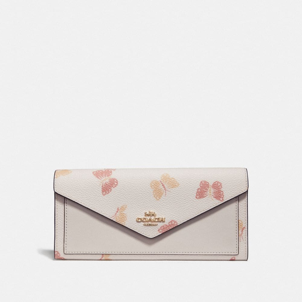 soft wallet with butterfly print