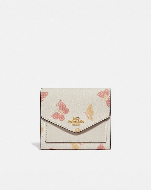 Coach SMALL WALLET WITH BUTTERFLY PRINT