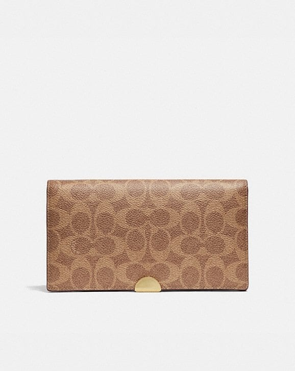 Coach DREAMER WALLET IN COLORBLOCK SIGNATURE CANVAS
