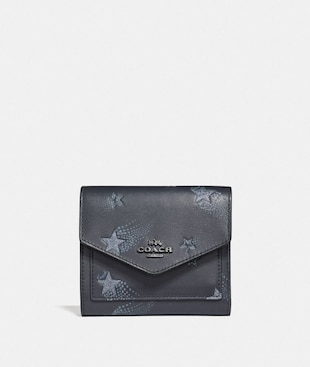 SMALL WALLET WITH STAR PRINT
