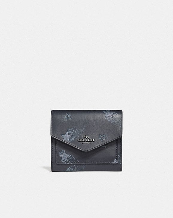 Coach SMALL WALLET WITH STAR PRINT