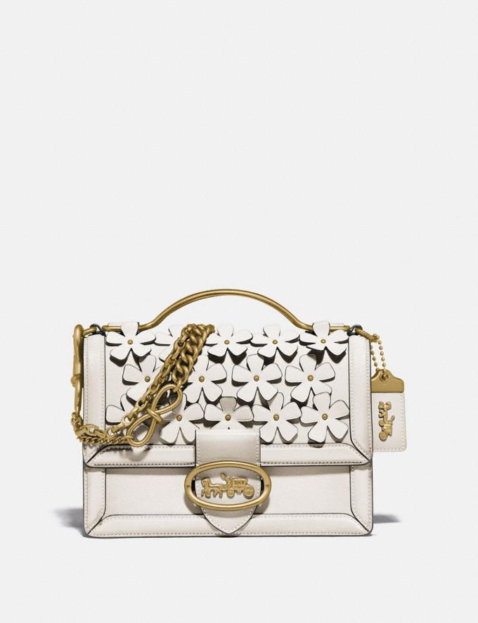 Coach Riley Top Handle 22 With Floral Applique Brass/Chalk New Women's New Arrivals Bags