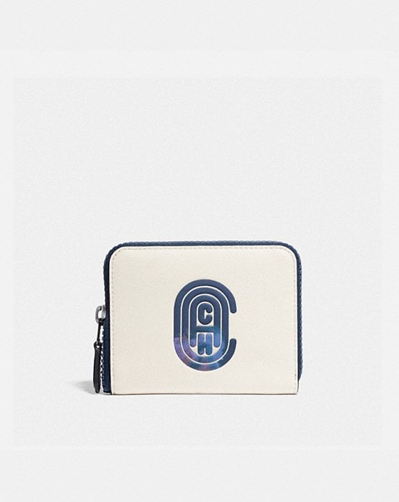 Coach SMALL ZIP AROUND WALLET WITH COACH PATCH