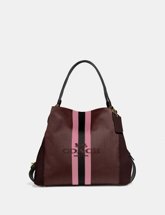 Coach Edie Shoulder Bag 31 With Horse and Carriage Sv/Charcoal/Black