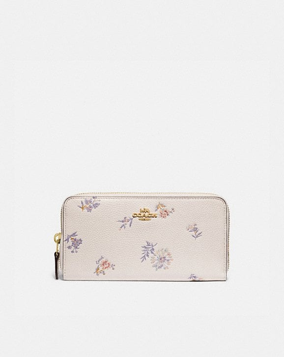 Coach ACCORDION ZIP WALLET WITH MEADOW PRAIRIE PRINT
