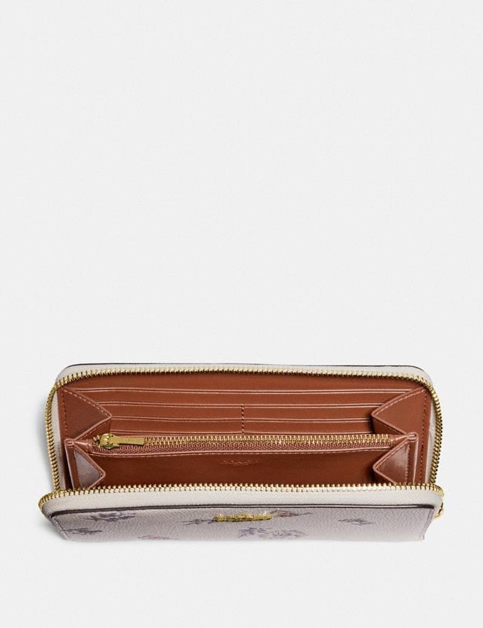 Coach Accordion Zip Wallet With Meadow Prairie Print Gold/Chalk  Alternate View 1