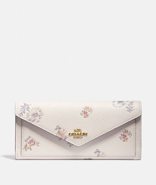 SOFT WALLET WITH MEADOW PRAIRIE PRINT