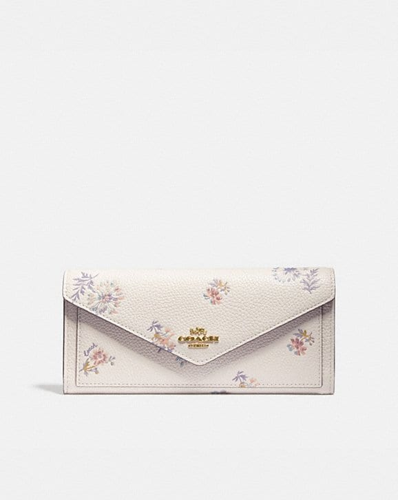 Coach SOFT WALLET WITH MEADOW PRAIRIE PRINT