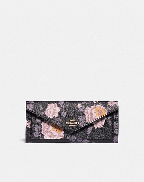 Coach SOFT WALLET WITH GARDEN ROSE PRINT