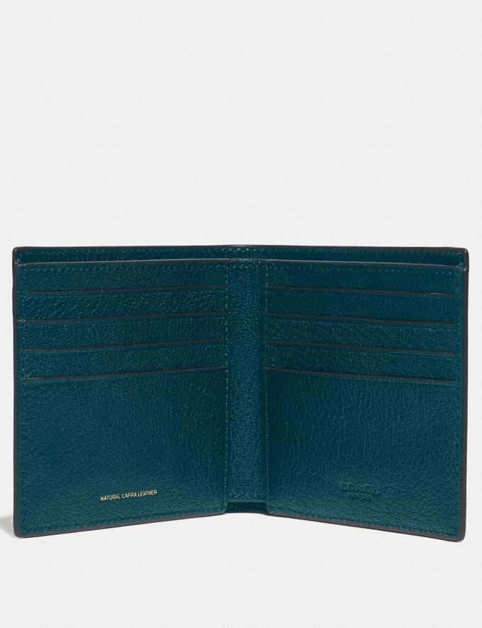Coach Double Billfold Wallet Deep Mineral Gifts For Him Alternate View 1