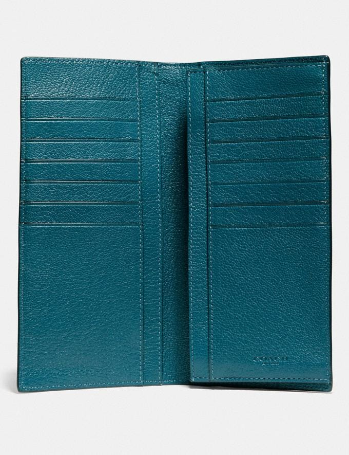 Coach Breast Pocket Wallet Deep Mineral Men Wallets Alternate View 1